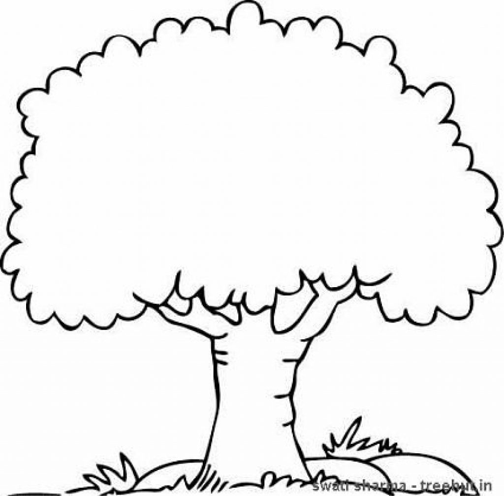 Tree Coloring Pages For Kids