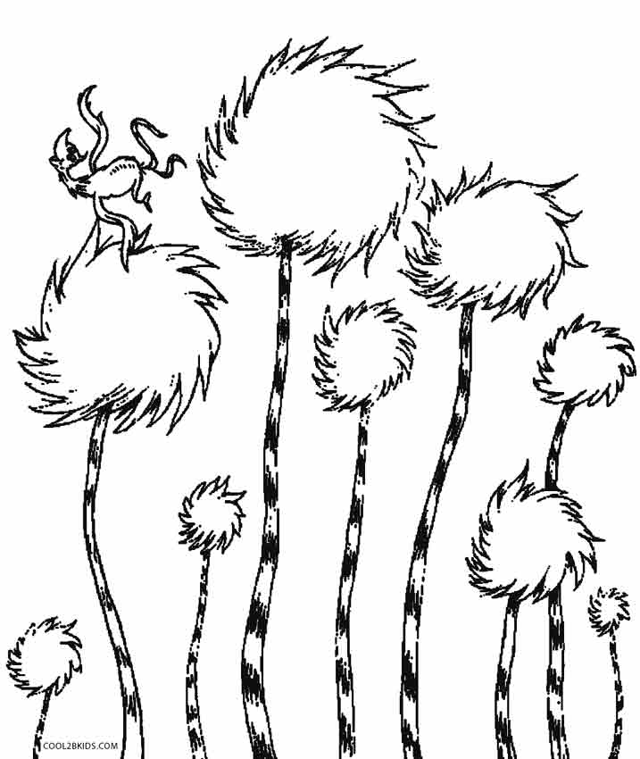 717x850 Lorax Truffula Trees Coloring Pages