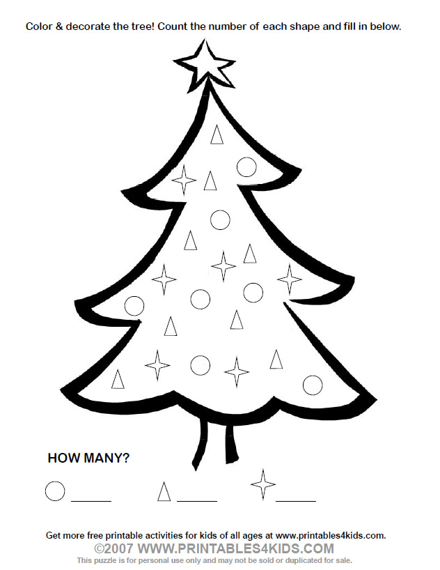 632x818 Christmas Tree Coloring Page Printables For Kids Free Word