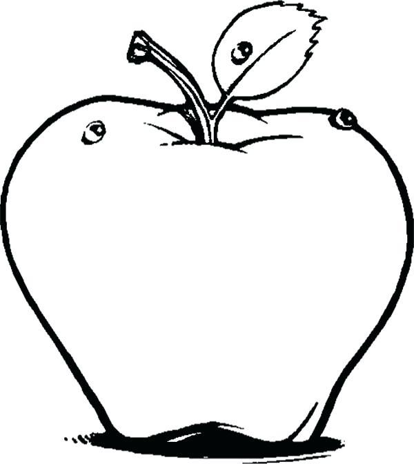 600x672 Apple Coloring Pictures Apple Coloring Pages Preschool Apple