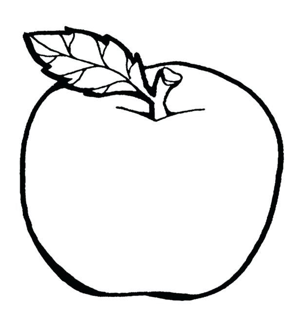 620x644 Apple Coloring Pages For Kindergarten