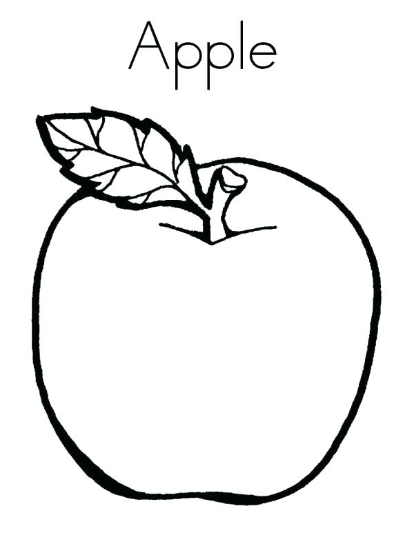 600x776 Coloring Page Of An Apple