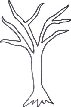 236x358 Bare Tree Without Leaves Coloring Pages
