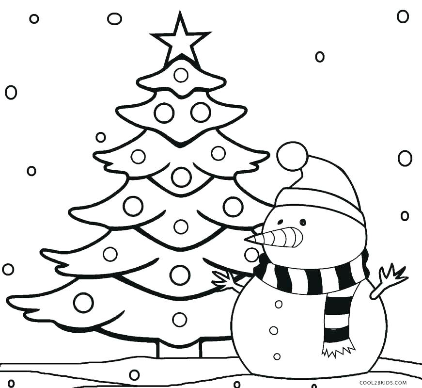 871x800 Coloring Pages Christmas Ornaments Printable Tree Coloring Tree