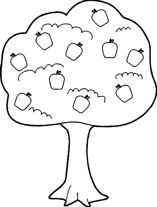 618x816 The Giving Tree Coloring Pages Printable Tree Coloring Page Free