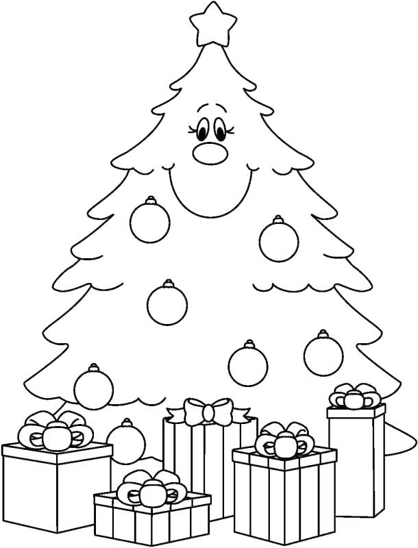 610x800 Coloring Page Christmas Tree Blank Tree Coloring Pages Tree