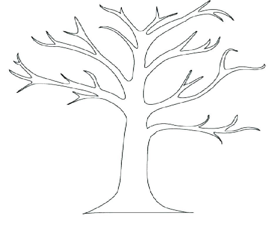 940x765 Bare Tree Coloring Page X Bare Tree Outline Coloring Page Bare