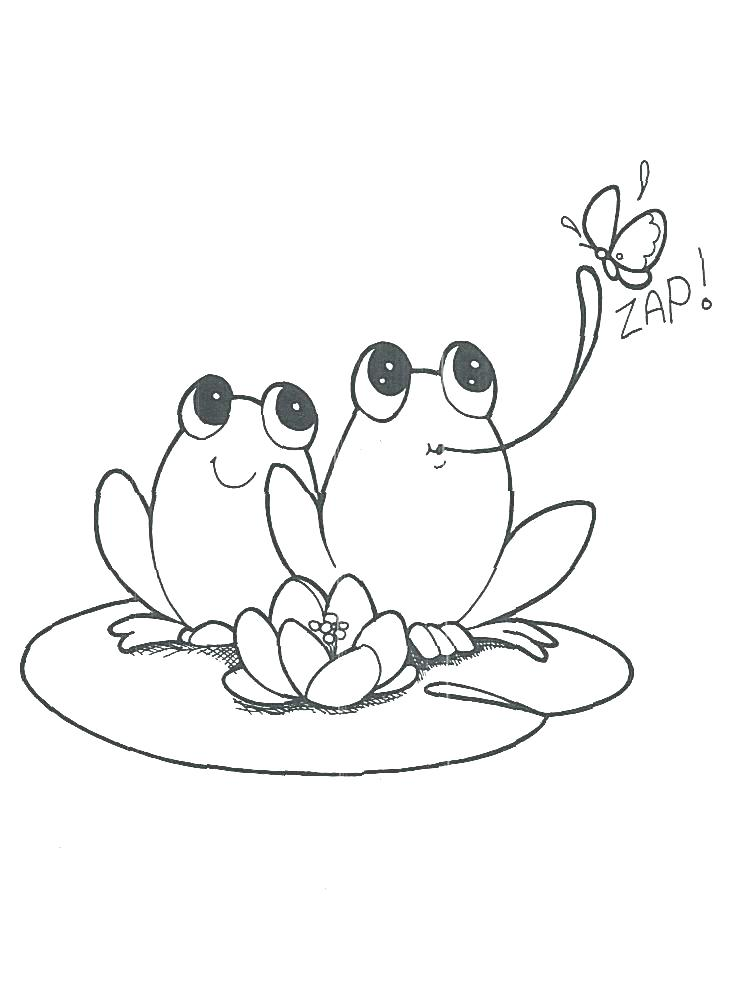 733x996 Coloring Page Of A Frog Coloring Pages Frog Frog Coloring Sheet