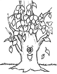 236x305 Fall Tree Coloring Page Fall Trees, Crayons And Journal