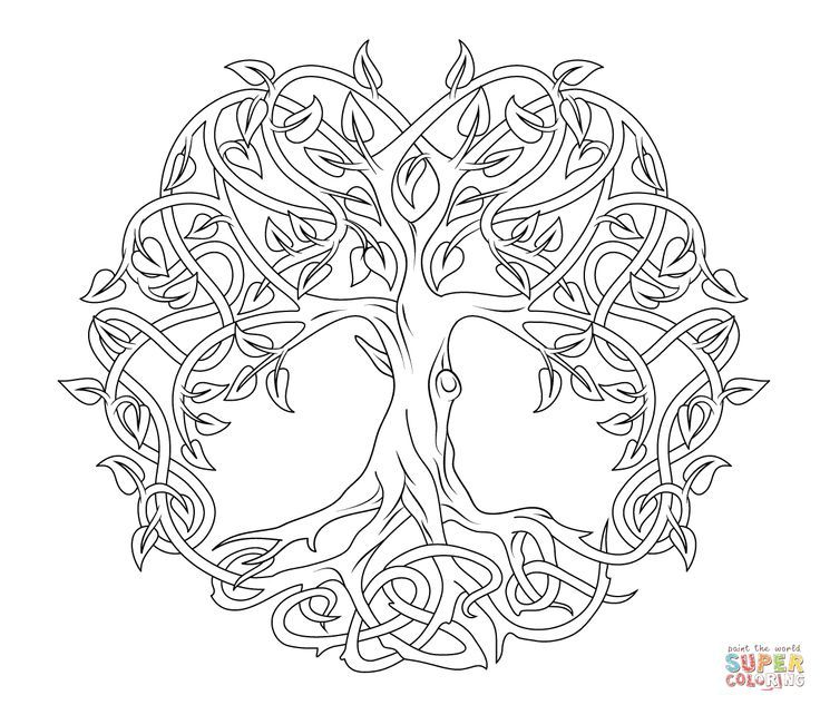736x633 Celtic Tree Of Life Coloring Page Coloring