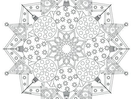440x330 Christmas Mandala Coloring Pages Mandalas Coloring Book Tree