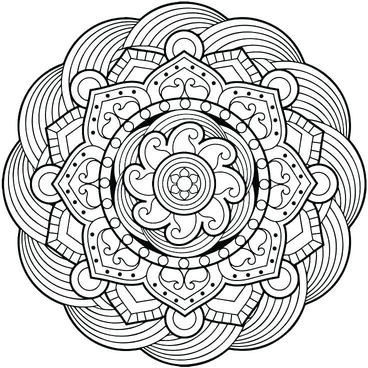 736x736 Christmas Mandala Coloring Pages Tree Mandala Coloring Pages Free