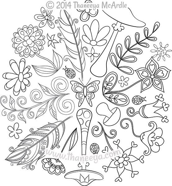 554x600 Nature Mandalas Coloring Book