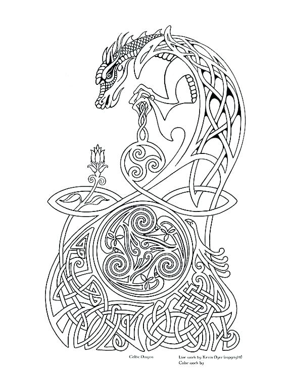 570x737 Celtic Coloring Pages