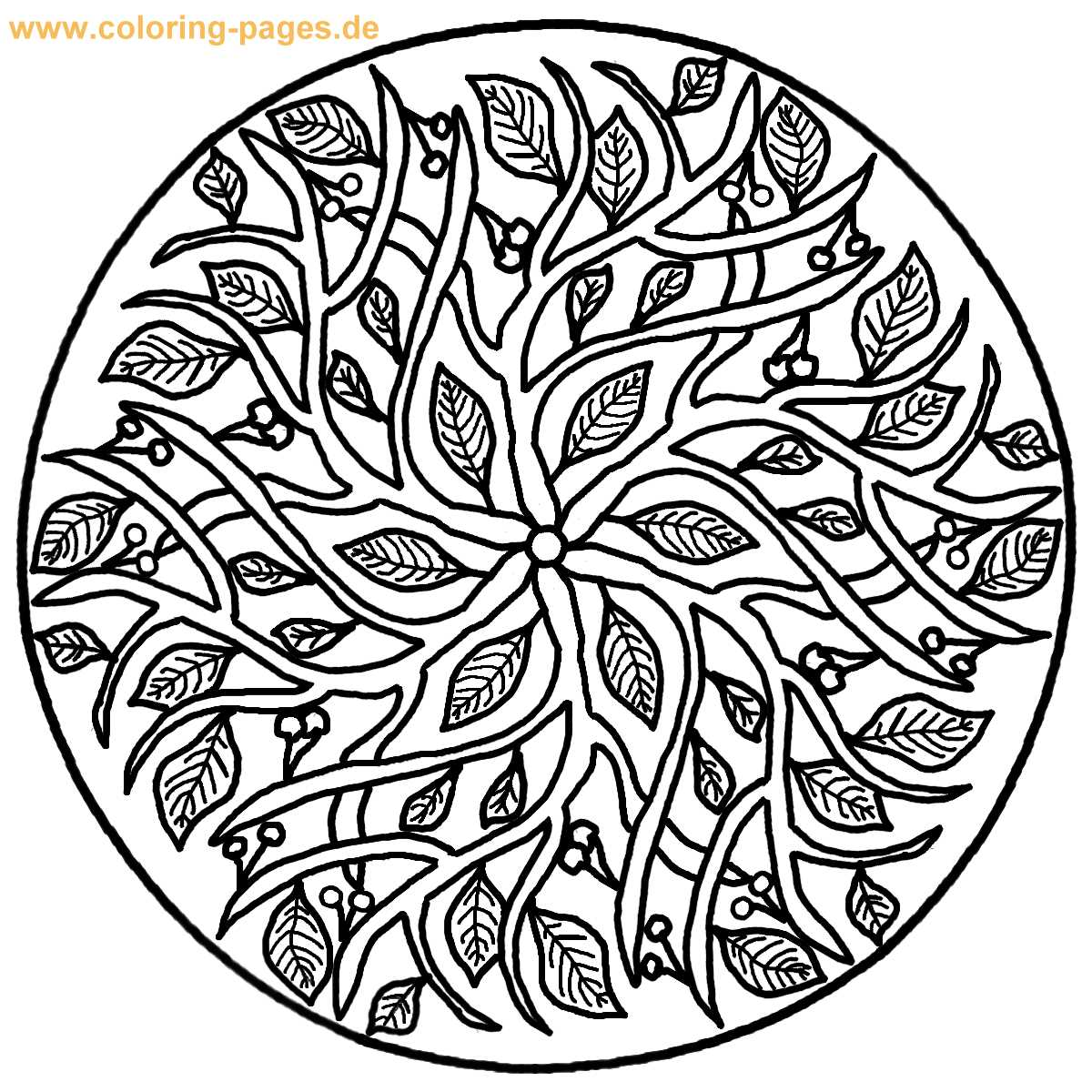 1200x1200 Adult Mandala Coloring Pages