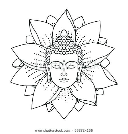 450x470 Buddhist Coloring Pages Coloring Page Under Tree Colouring Page