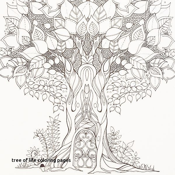 Tree of Life Coloring Page - Printable | 600x600