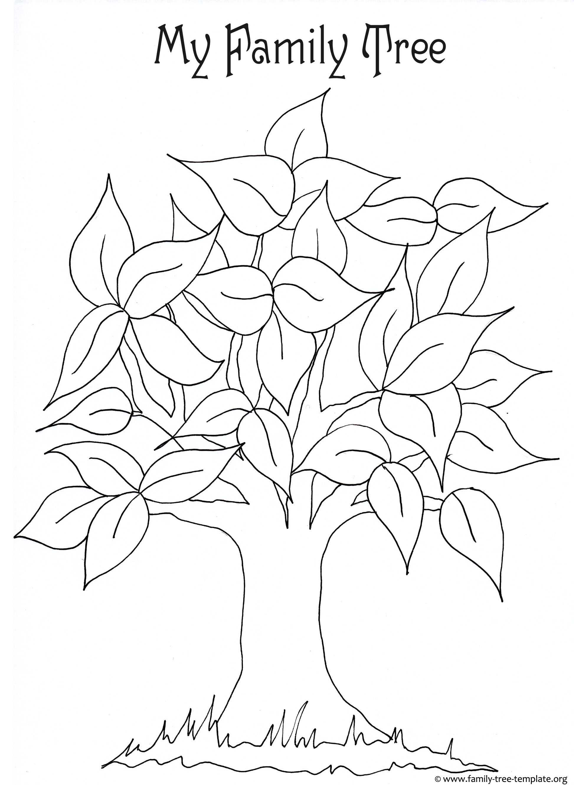 1945x2657 Free Printable Coloring Page For Kids With Leaves And Tree Trunk