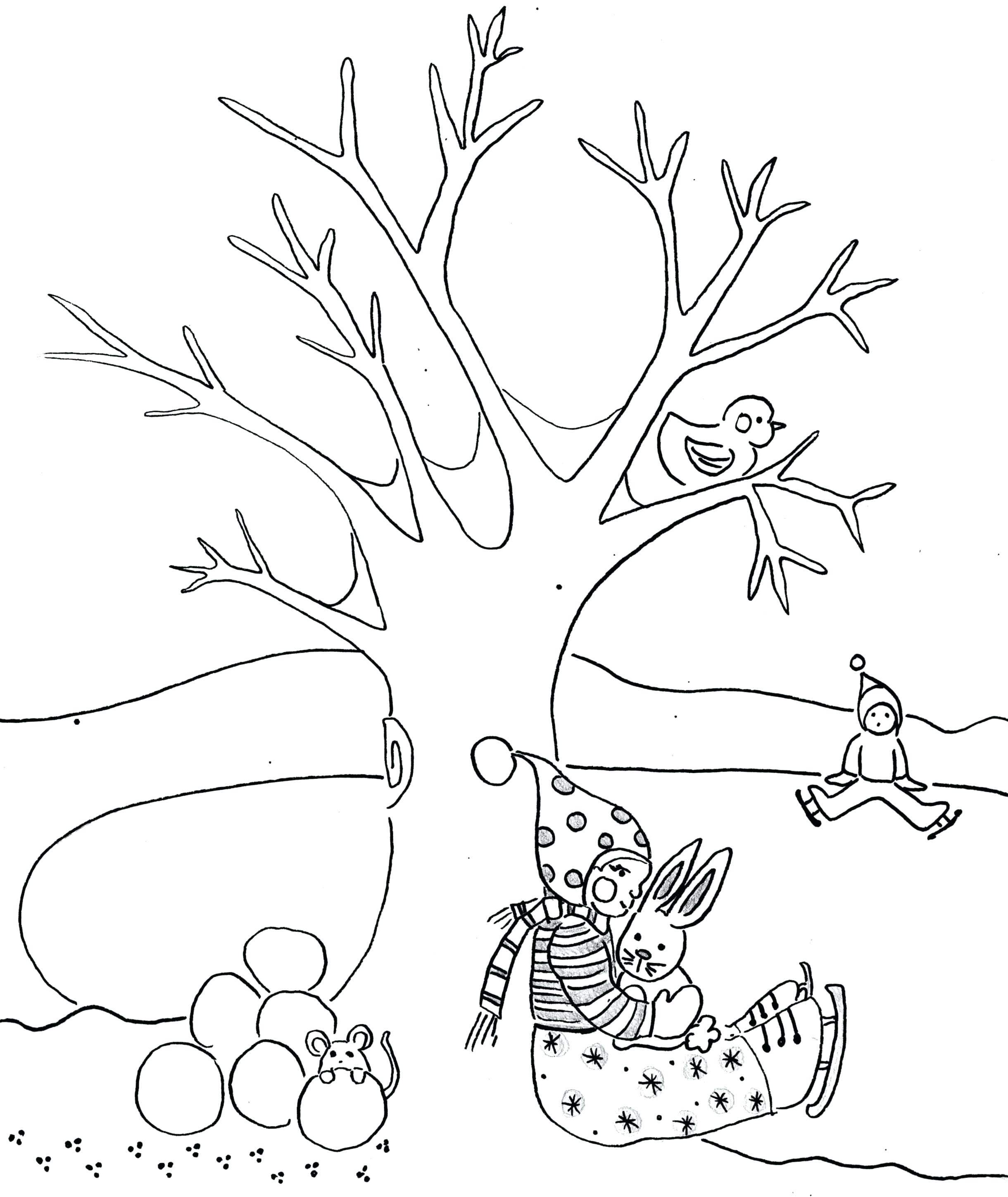 2440x2898 New Coloring Tree Trunk Coloring Page Printable Free Pages No