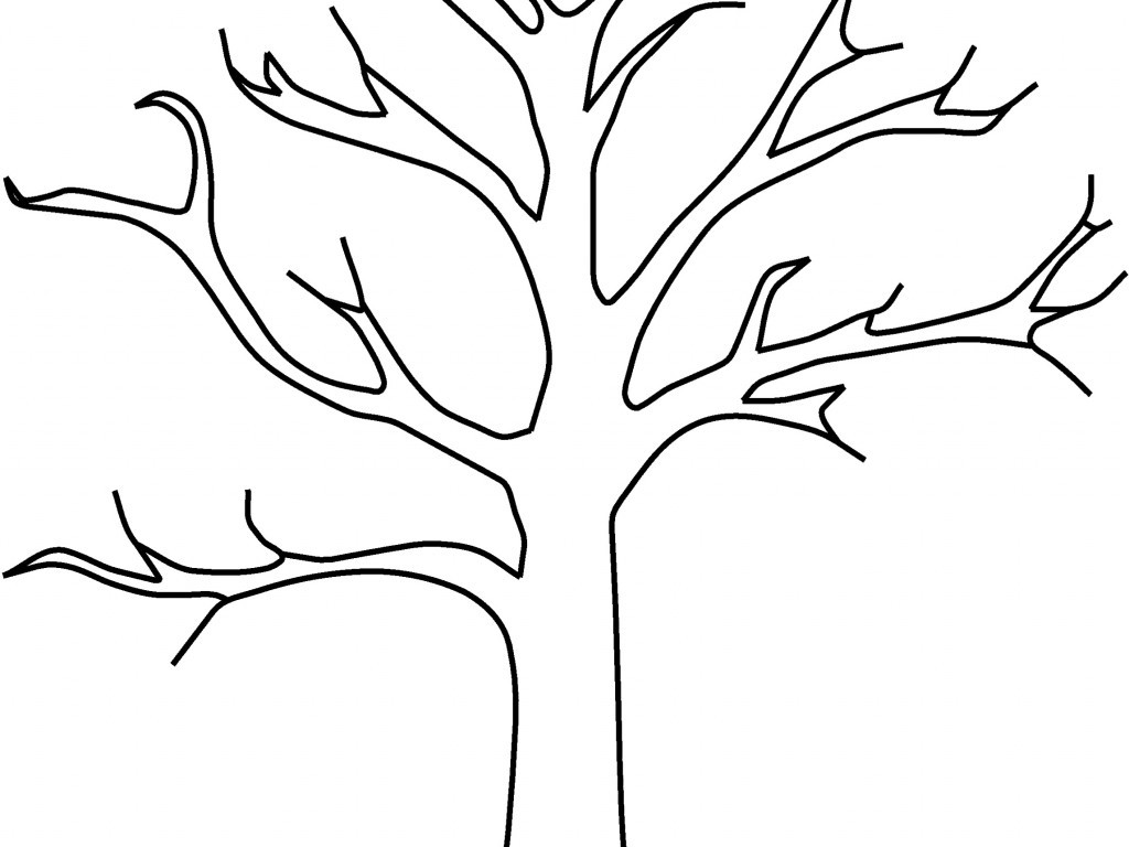 1024x768 Nice Tree Trunk Coloring Page Remodel With Tree Trunk Coloring