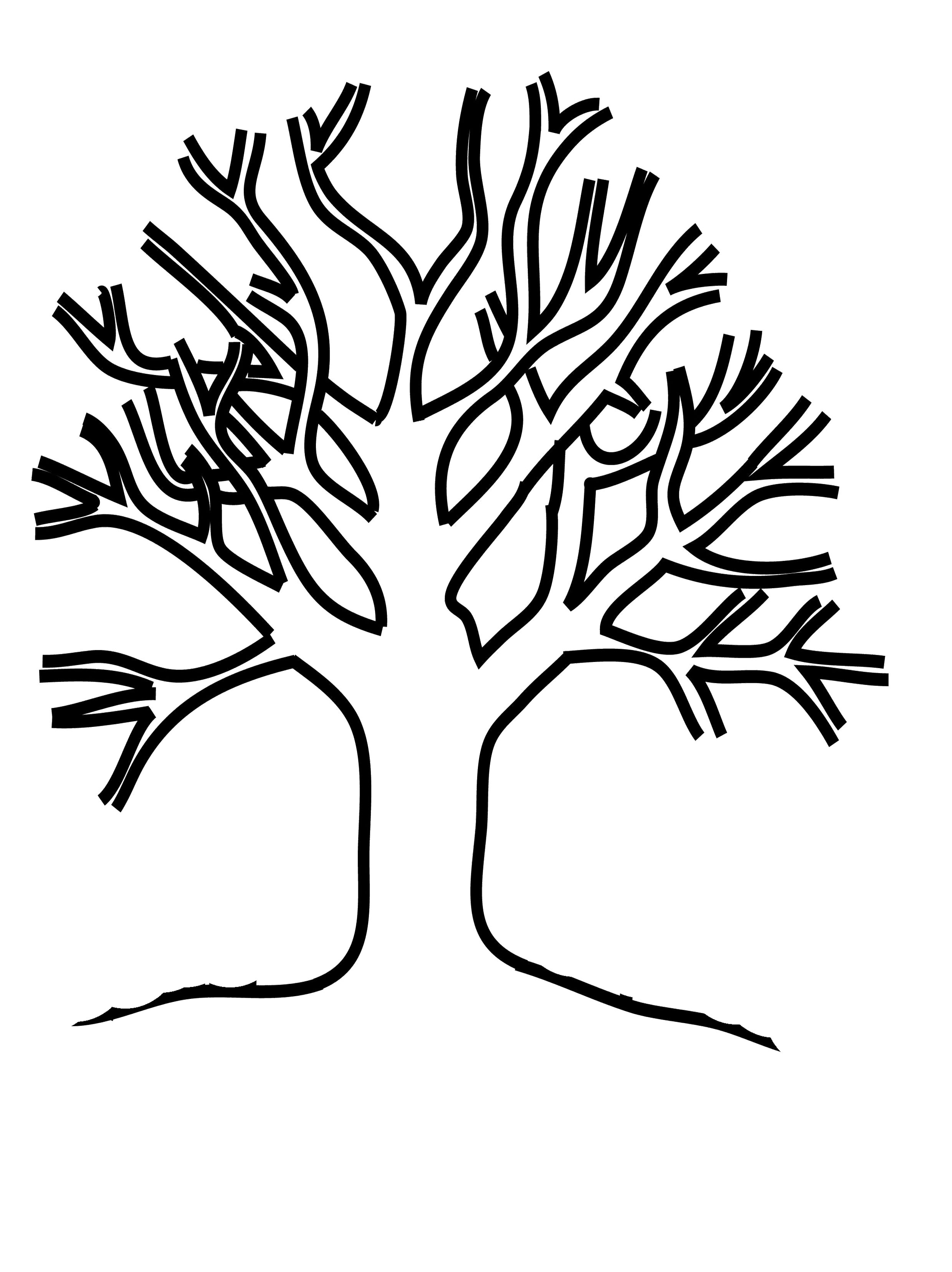 2480x3311 Tree Trunk Coloring Page