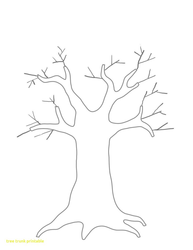 791x1024 Tree Trunk Outline Printable
