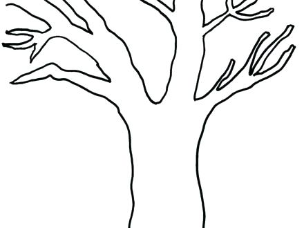 440x330 Coloring Pages Of Trees Without Leaves Tree Without Leaves