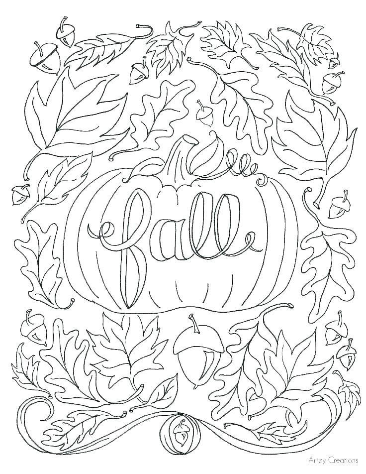 736x952 Dogwoods Tree Fall Leaf Coloring Page With Dogwoods Tree Fall Leaf