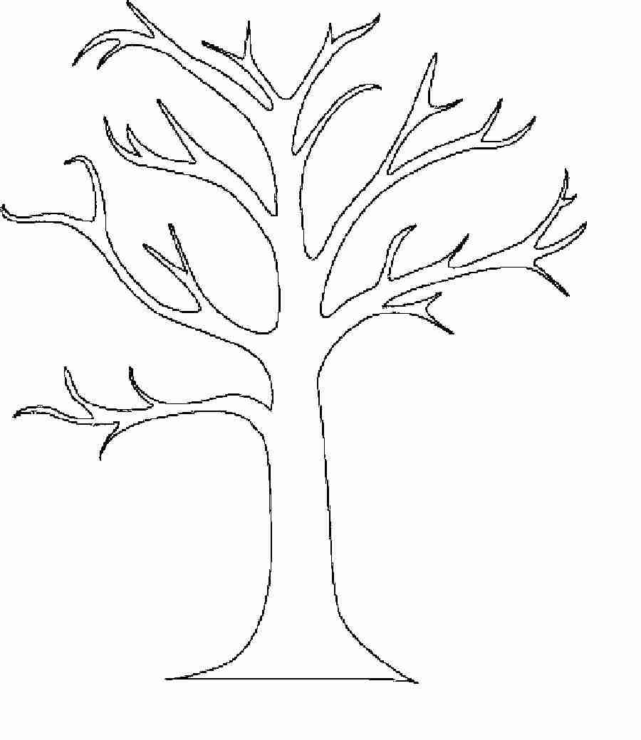 900x1040 Tree Without Leaves Coloring Page Free Download Ripping Olegratiy