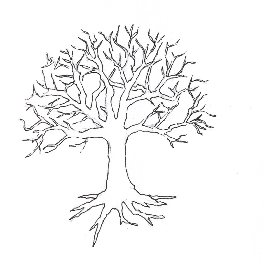 1080x1080 Tree Without Leaves Coloring Page To Print And Download For Kids
