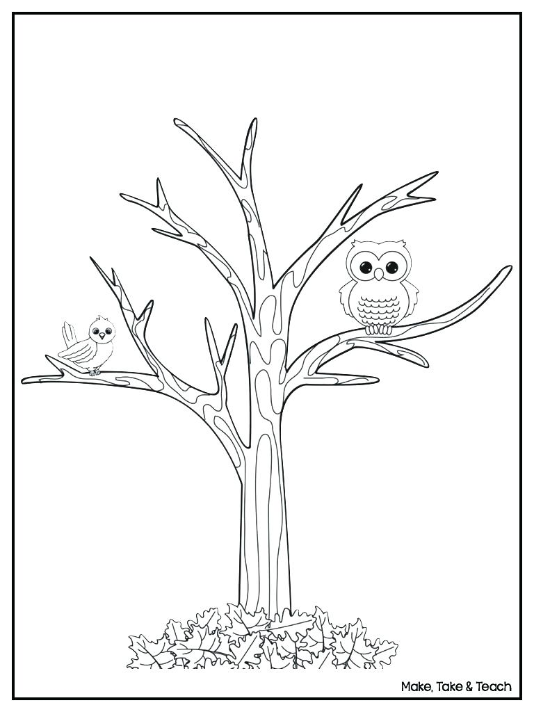 768x1024 Printable Printable Tree Without Leaves Coloring Page