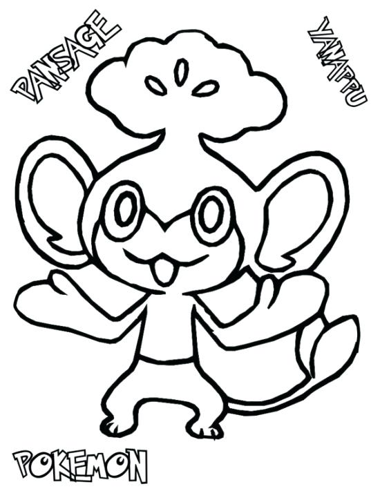 550x711 Pokemon Pansage Coloring Pages Pokemon Coloring Pages Pokemon