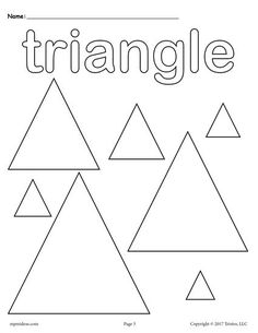 Triangle Coloring Page