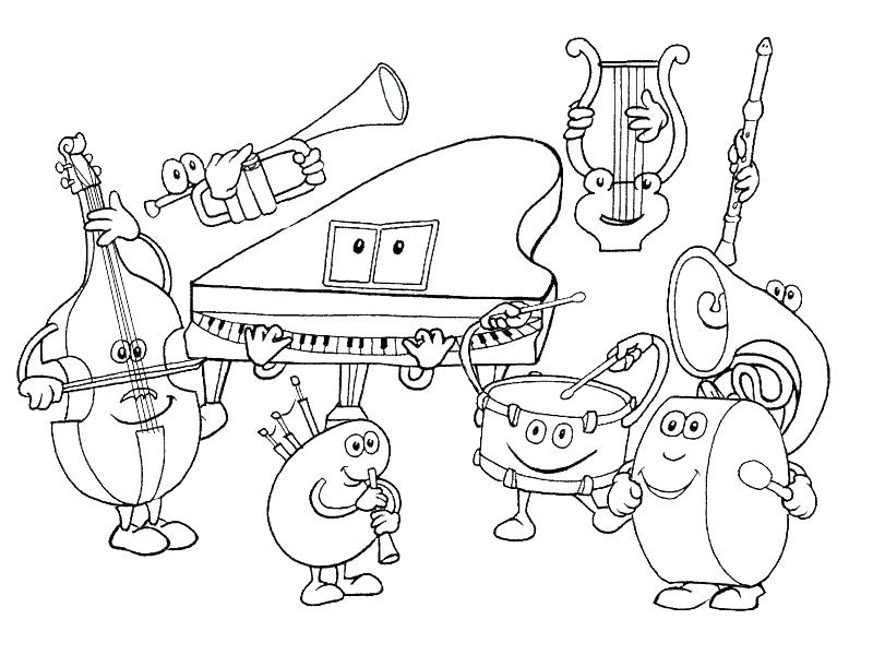 The best free Instrument coloring page images. Download from 140 ...