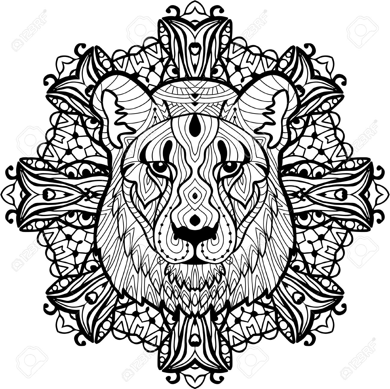1300x1298 Best Of Lion Mandala Coloring Pages Collection Printable