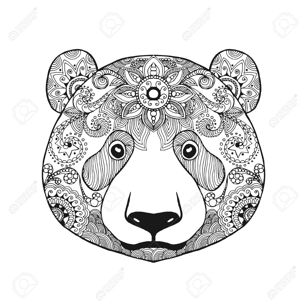 1300x1300 Image Pandi Panda Mandala And Bears