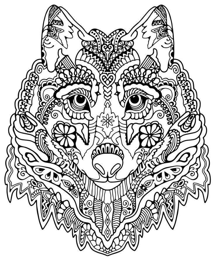 736x896 Tribal Animal Coloring Pages
