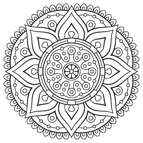 500x500 Tribal Coloring Pages Mandala Printable Coloring Pages Mandala