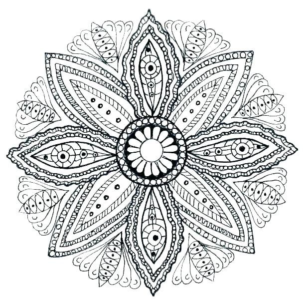 618x613 Tribal Coloring Pages Online Mandalas Coloring Pages Mandalas