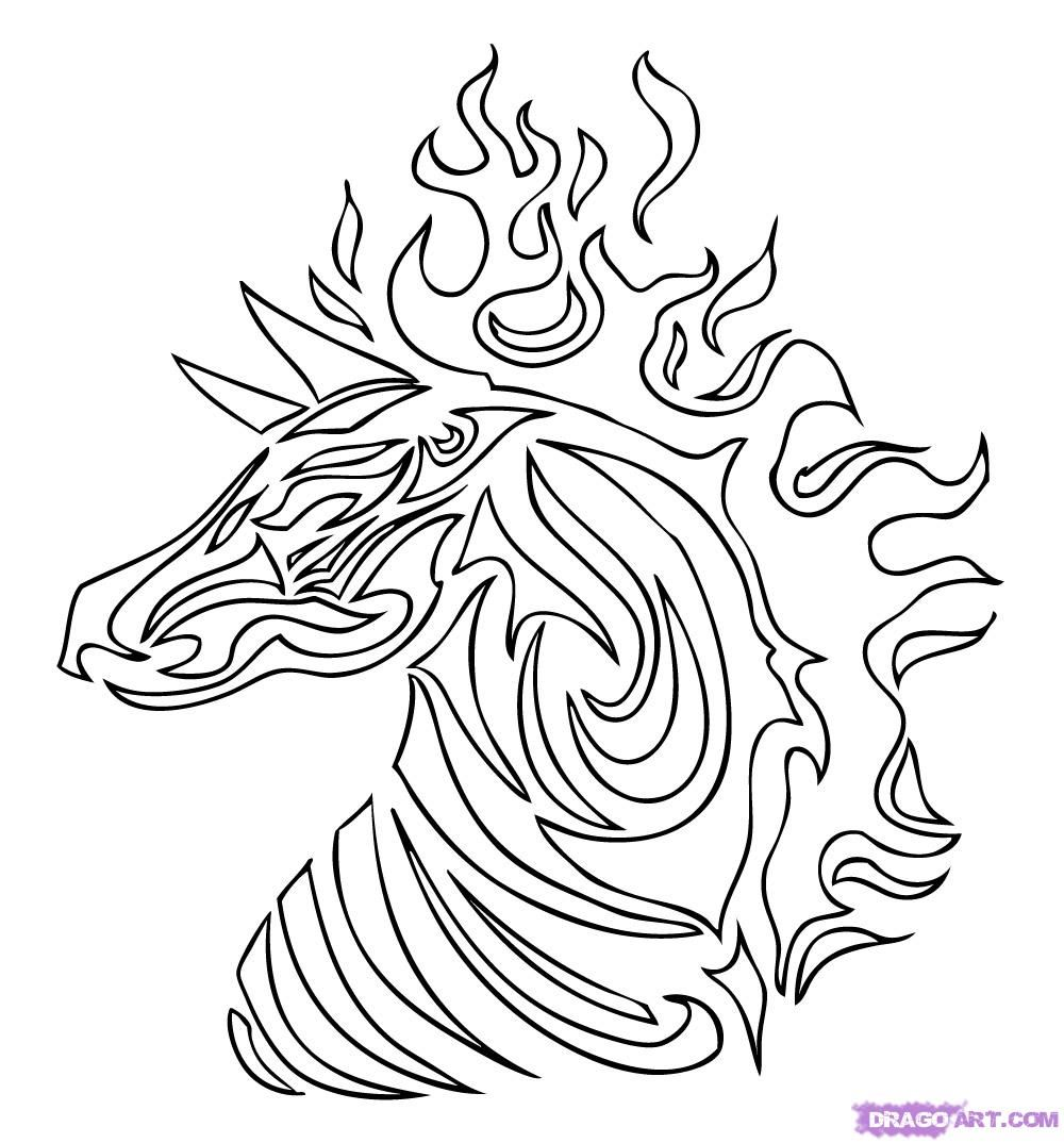 1000x1074 Dragoart Coloring Pages Tribal Tiger Colouring Pages Coloring