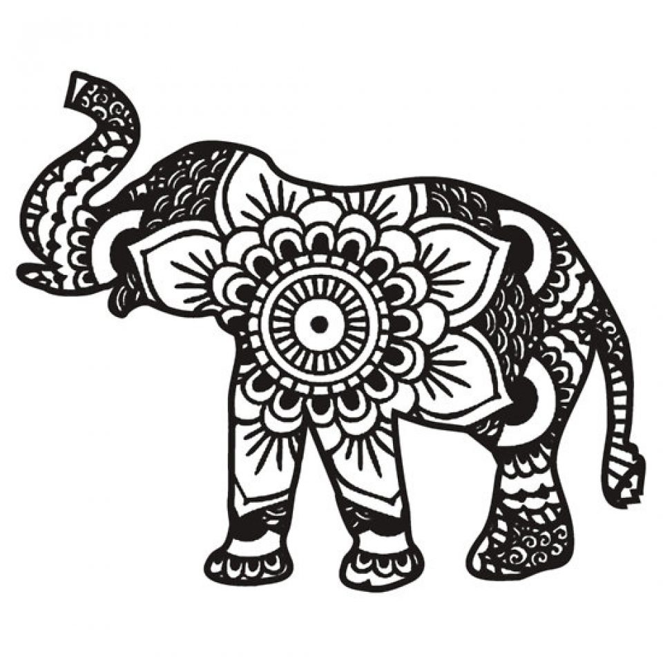 960x960 Elephant Coloring Pages Image Inspirations Mystical Page Sheets