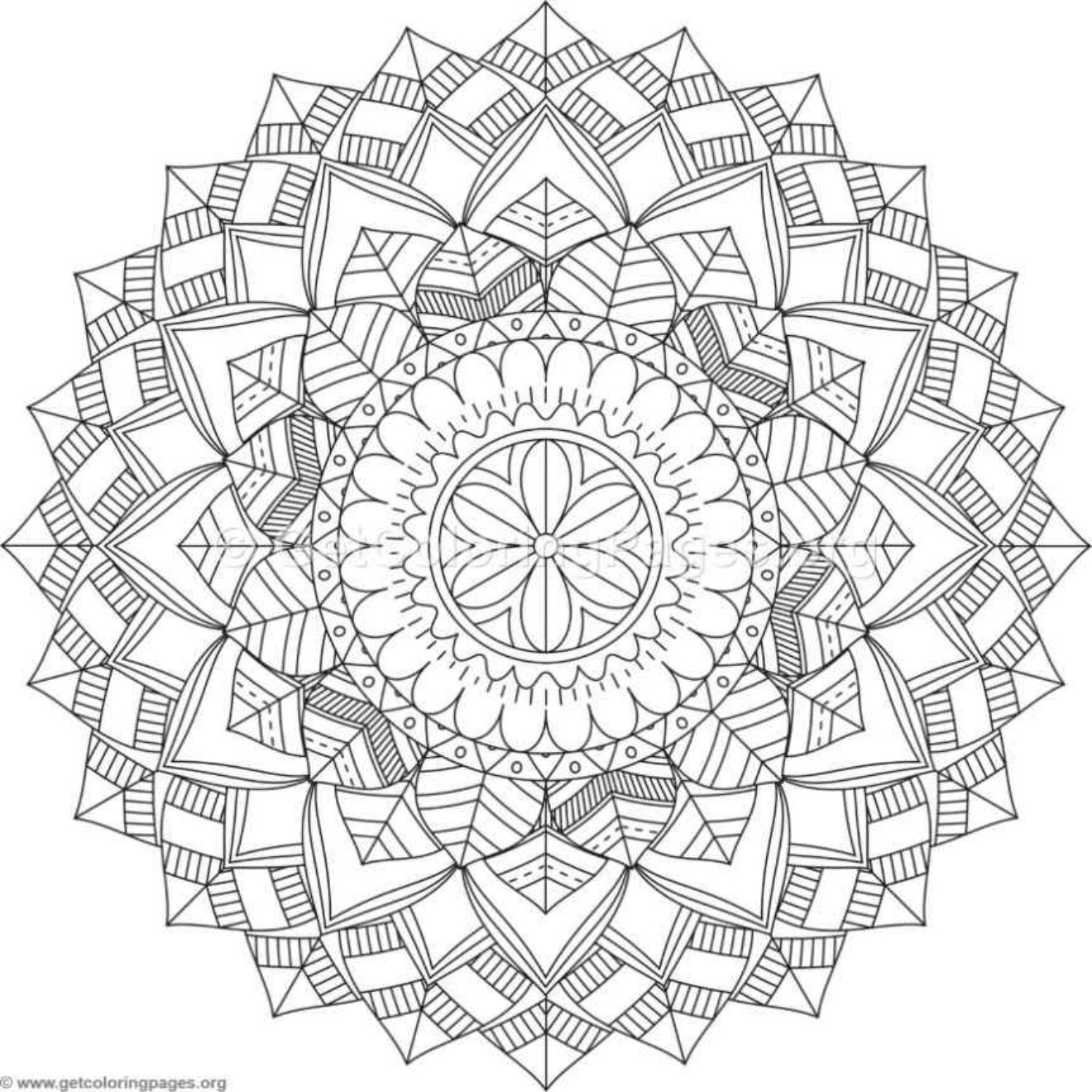 1320x1320 Tribal Mandala Coloring Pages
