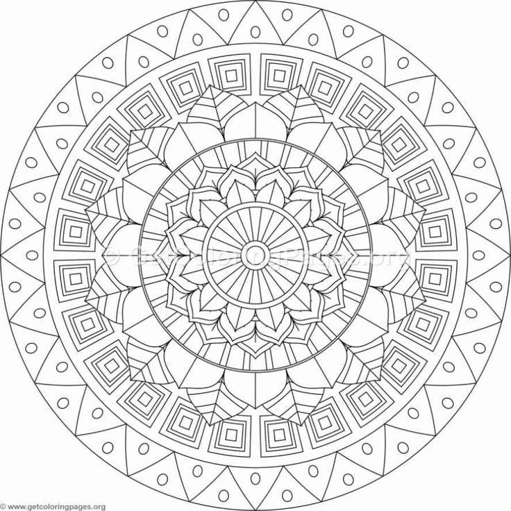 736x736 Tribal Mandala Coloring Pages