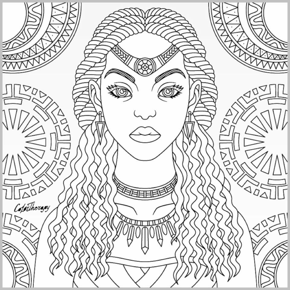 960x960 Tribal Queen Coloring Page Color Therapy App Coloring Page