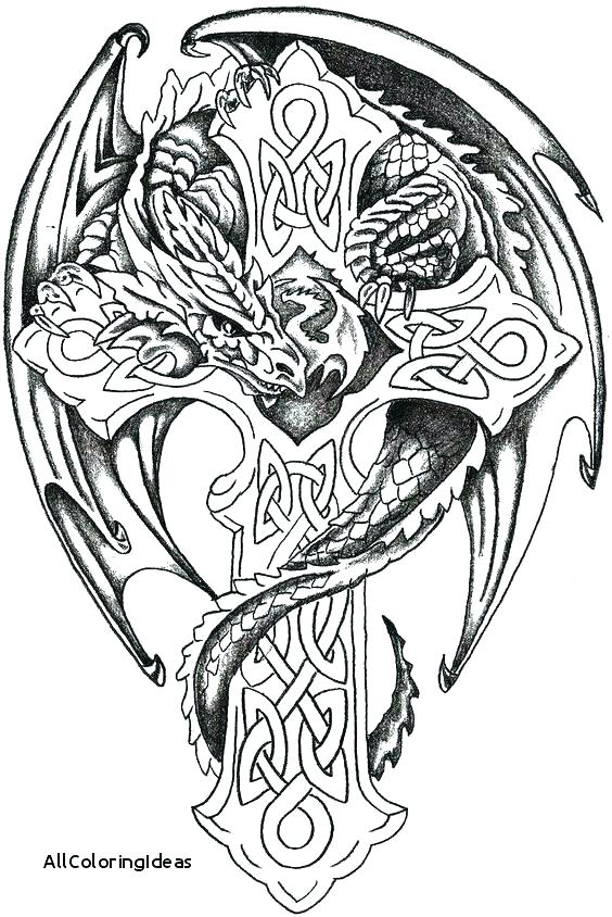 564x844 Tattoo Coloring Pages Tattoo Design Coloring Pages Dragon Tattoo