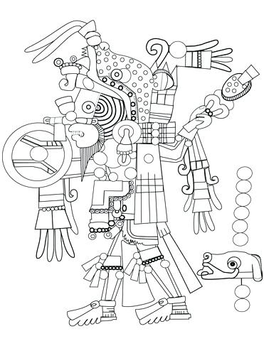 371x480 Aztec Coloring Pages Click To See Printable Version Of Art