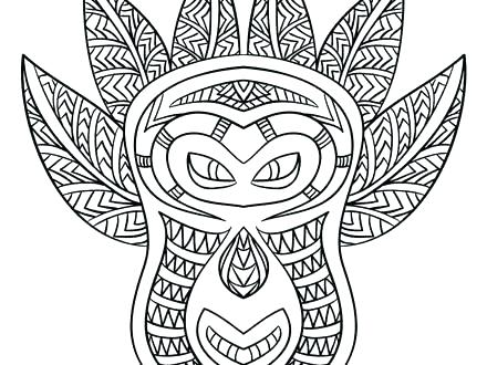440x330 African Mask Coloring Pages Great Mask Coloring Pages Print Page