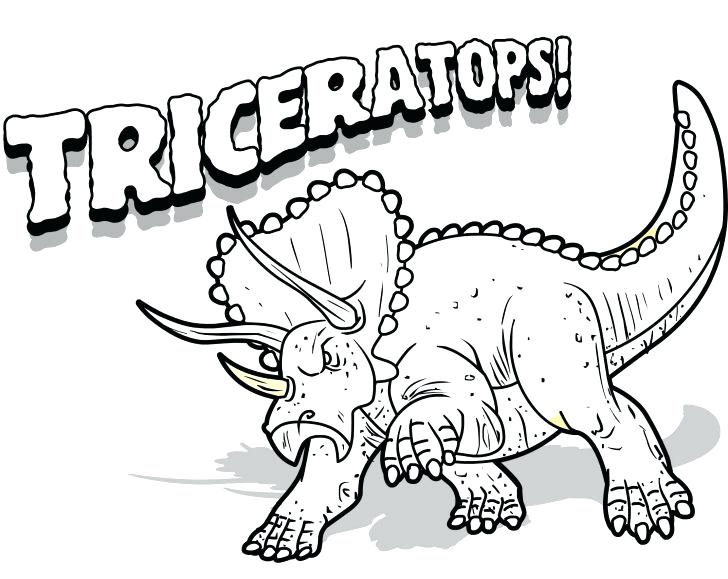 728x579 Triceratops Coloring Page Tyrannosaurus Coloring Pages Triceratops