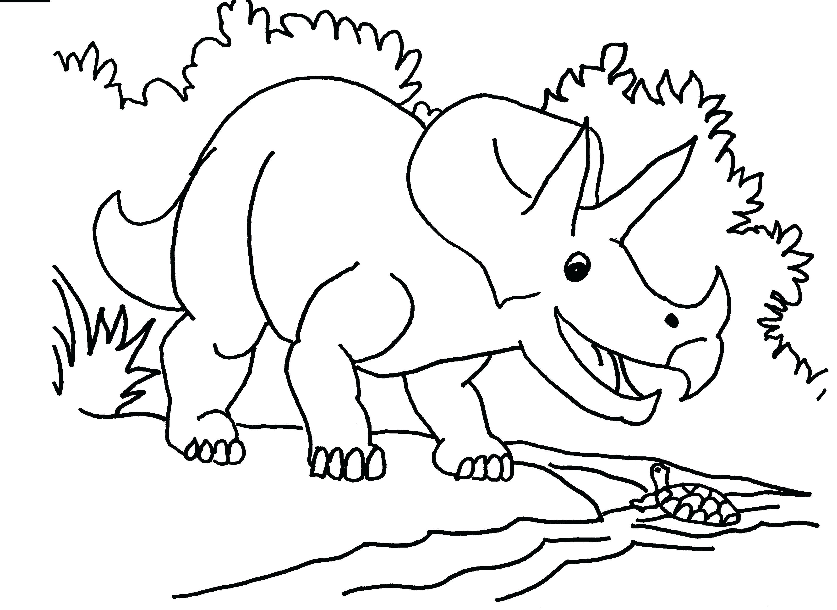 3501x2550 New Triceratops Coloring Page For Line Drawings