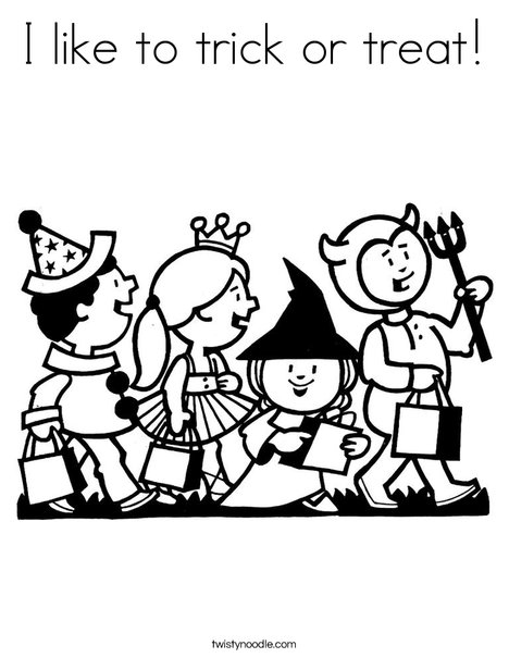 468x605 I Like To Trick Or Treat Coloring Page